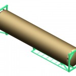 3d model of the 40 foot container for LNG